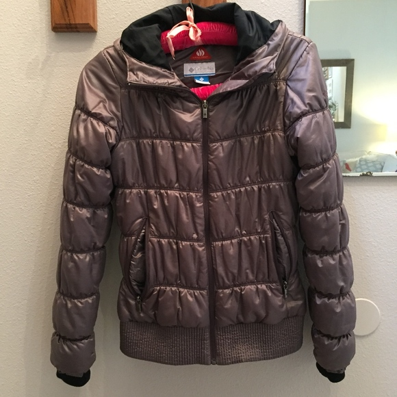 01e6ceeb2f6 Columbia Jackets   Blazers - Columbia Omni-Heat hooded puffer waist jacket